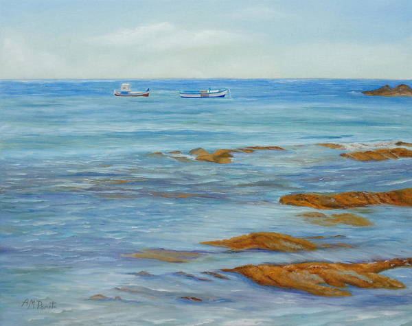 Painting - From The Shore by Angeles M Pomata