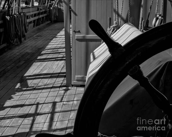 Aft Photograph - From The Wheel by Joe Geraci