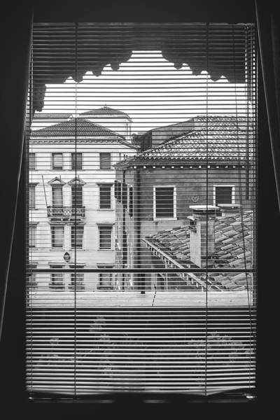 Photograph - Vintage Buildings From The Window In Venice, Italy - Black And White by Fine Art Photography Prints By Eduardo Accorinti