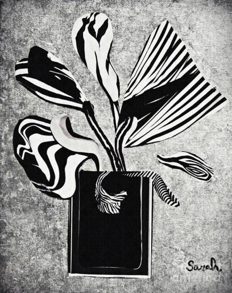Stripe Mixed Media - From The Zebras Garden by Sarah Loft