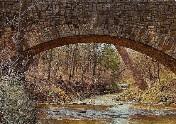 Photograph - From Under Rock Creek Bridge In Winter by Sheila Brown