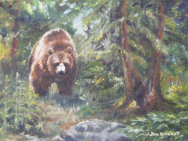 Painting - From Up The Trail by Lori Brackett