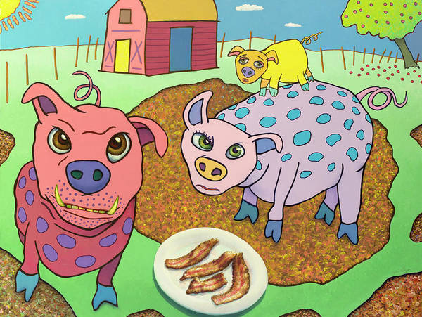 Painting - From Where Bacon Comes by James W Johnson