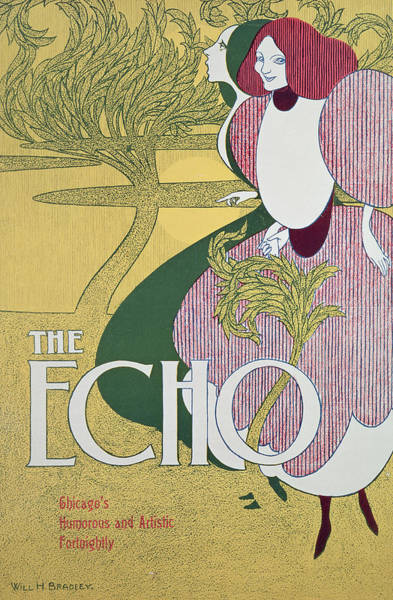 Magazine Cover Painting - Front Cover Of The Echo by William Bradley