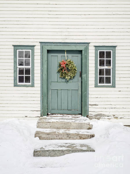 New England Barn Photograph - Front Door Of An Old Colonial Home by Edward Fielding