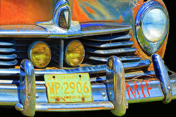 Photograph - Front End Of An Old Vintage Hudson Auto by Randall Nyhof