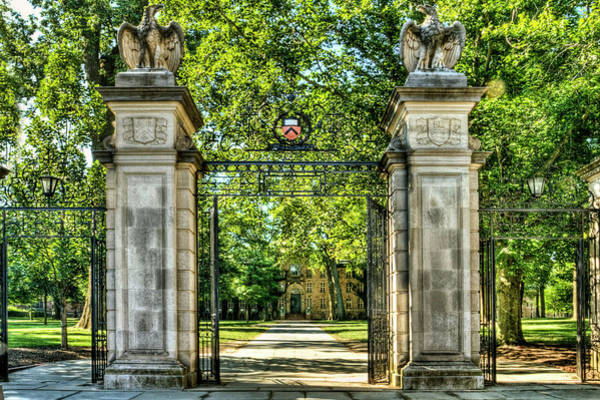 Wall Art - Photograph - Front Gate At Princeton Universary  by Geraldine Scull