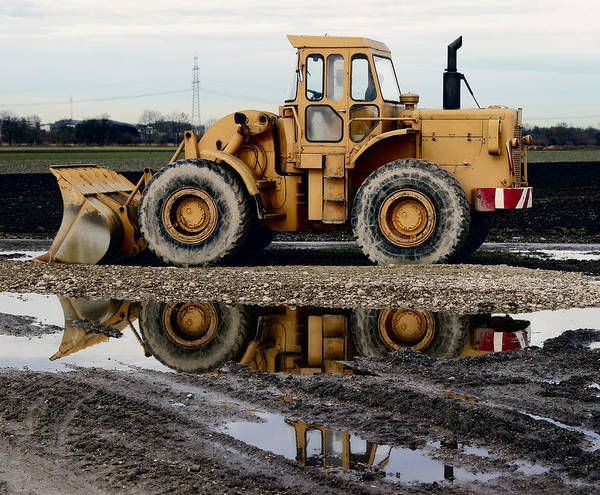 Wall Art - Photograph - Front Loader Reflected by Daniel Hagerman