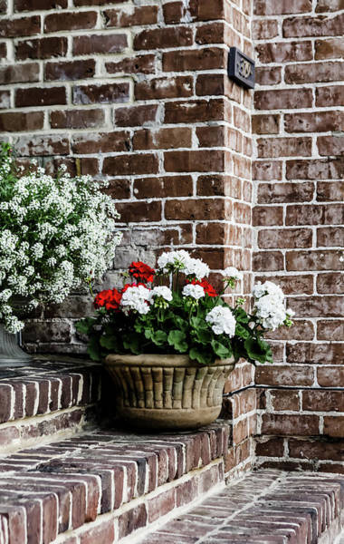 Wall Art - Photograph - Front Porch With Flower Pots by Kim Hojnacki