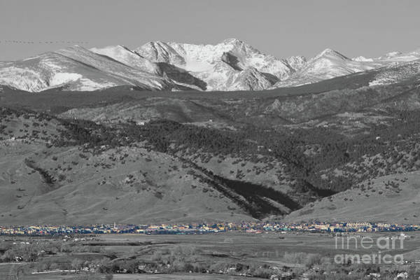 Photograph - Front Range View North Boulder Colorado by James BO Insogna