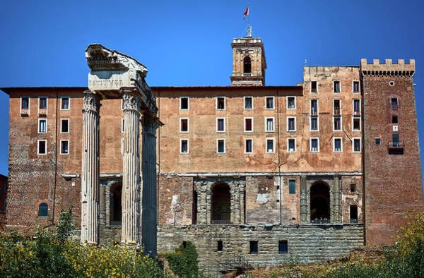Photograph - Front View Of The Tabularium Building In The Roman Forum by Fine Art Photography Prints By Eduardo Accorinti