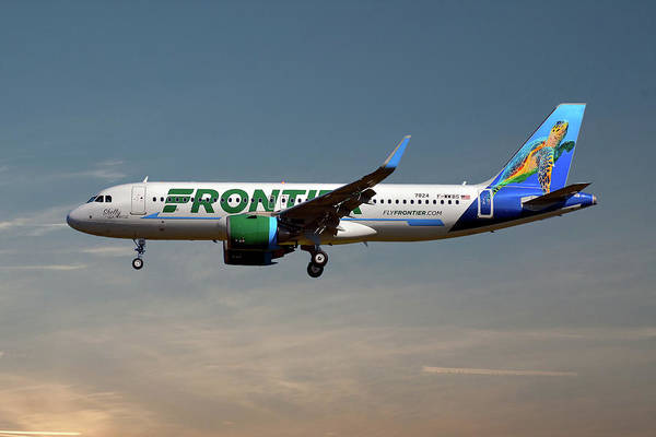 Frontier Photograph - Frontier Airbus A320-251n 16 by Smart Aviation