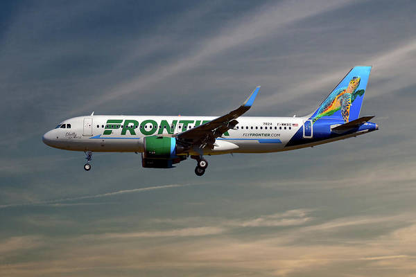 Frontier Photograph - Frontier Airbus A320-251n 17 by Smart Aviation