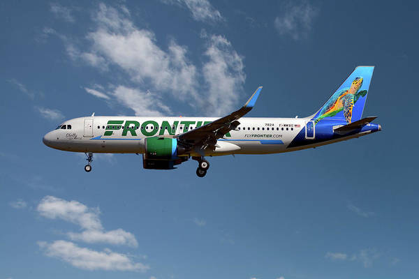 Frontier Photograph - Frontier Airbus A320-251n 18 by Smart Aviation
