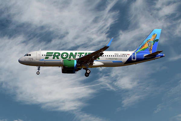 Frontier Photograph - Frontier Airbus A320-251n 19 by Smart Aviation