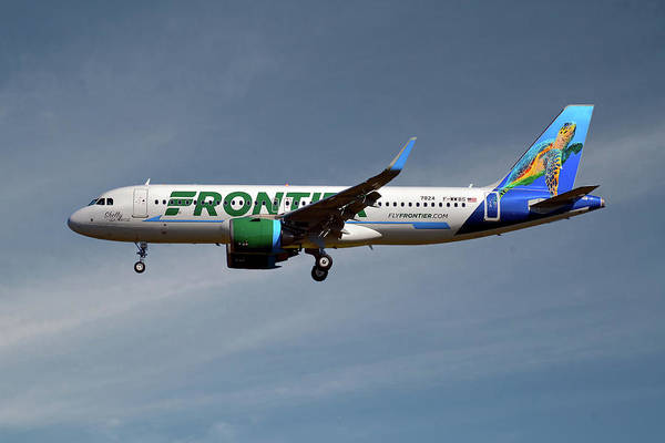 Frontier Photograph - Frontier Airbus A320-251n 20 by Smart Aviation