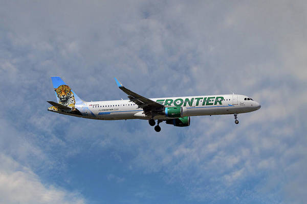 Frontier Photograph - Frontier Airbus A321-211 by Smart Aviation