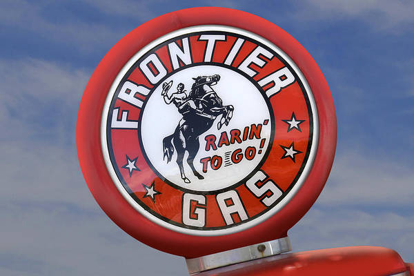 Gas Station Wall Art - Photograph - Frontier Gas Globe by Mike McGlothlen