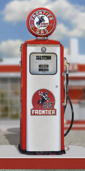 Wall Art - Photograph - Frontier Gas - Tokheim Pump by Mike McGlothlen