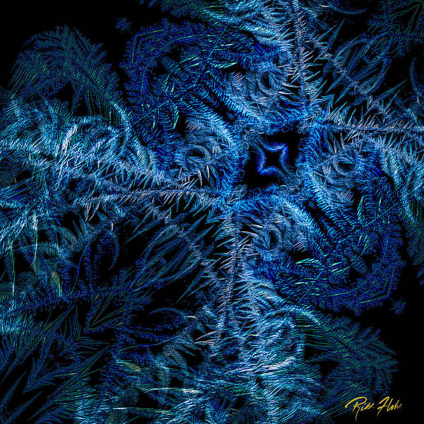 Photograph - Frost Abstract On Black  by Rikk Flohr