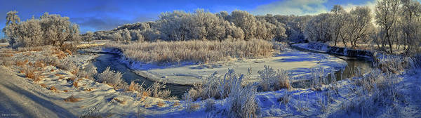 Photograph - Frost Along The Creek - Panorama by Bruce Morrison