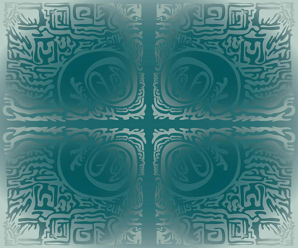 Digital Art - Frost Squiggle Tile by Kevin McLaughlin