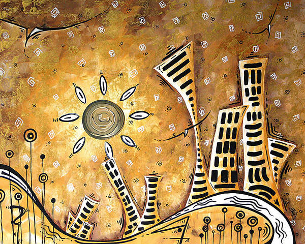 Wall Art - Painting - Frosted City By Madart by Megan Duncanson