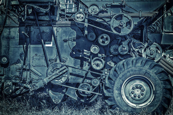 Photograph - Frosted Combine by John Williams