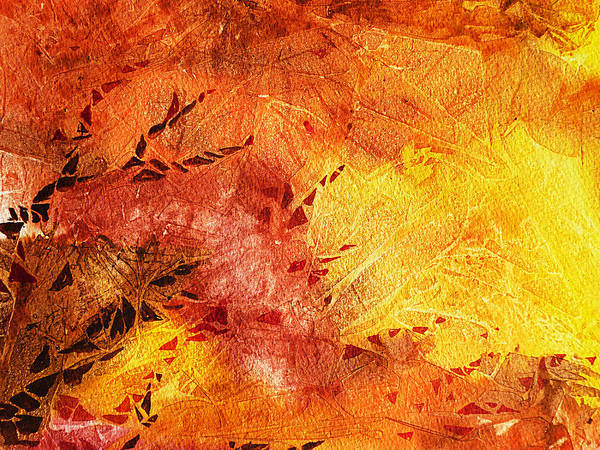 Fire Dance Wall Art - Painting - Frosted Fire II by Irina Sztukowski