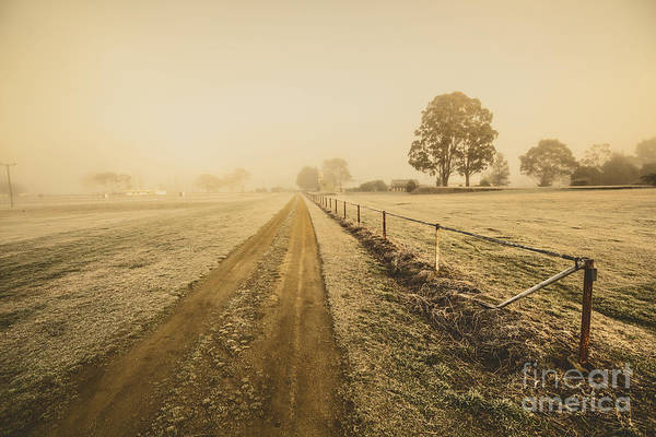 Rustic Photograph - Frosted Road In Outback Australia by Jorgo Photography - Wall Art Gallery