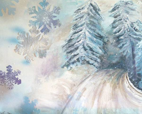 Painting - Frosted Secrets Of Winter by Pam Halliburton