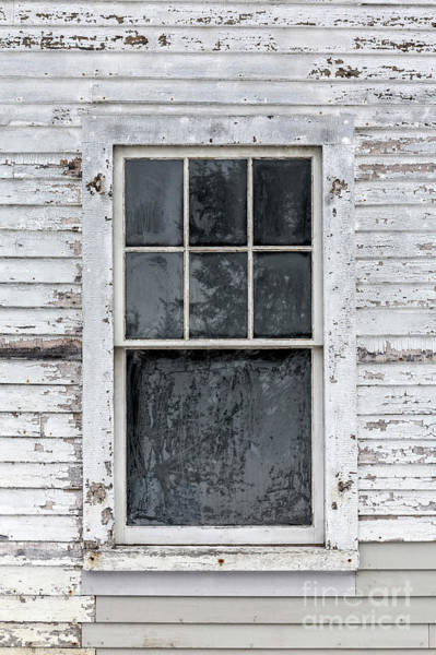 Photograph - Frosted Window On An Old House by Edward Fielding