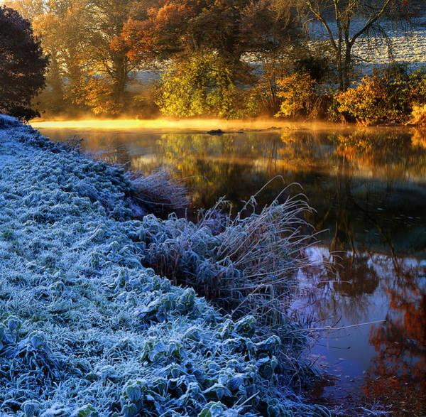 Frosty Autumnal Tamar River Art Print