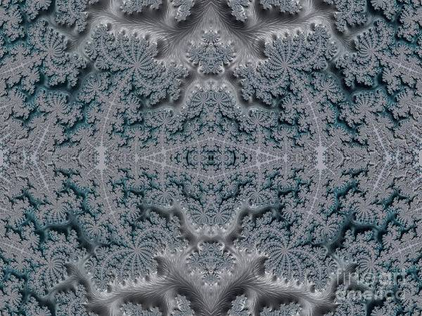 Digital Art - Frosty Garden Of Queen Annes Lace Fractal Abstract by Rose Santuci-Sofranko