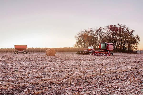Frosty Photograph - Frosty Harvest by Todd Klassy