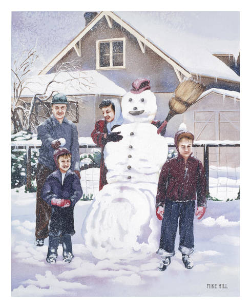 Wall Art - Painting - Frosty In Fifty by Mike Hill