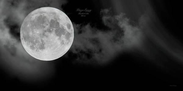 Super Moon Photograph - Frosty Moon November 14 2016 by Betsy Knapp