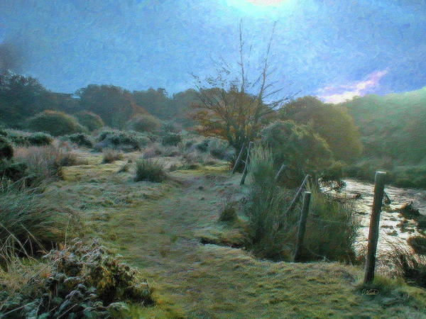 Fencepost Painting - Frosty Morning At Dartmoor - P4a160003 by Dean Wittle