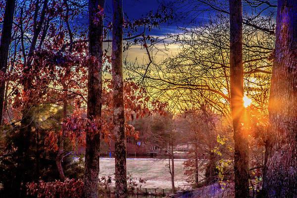 Photograph - Frosty Morning Sunrise by Barry Jones