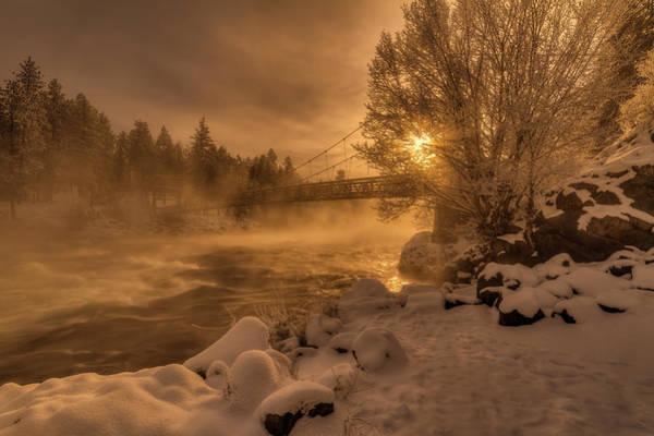 Spokane Photograph - Frosty Riverside by Mark Kiver