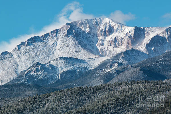 Photograph - Frosty Snow On Pikes Peak by Steve Krull