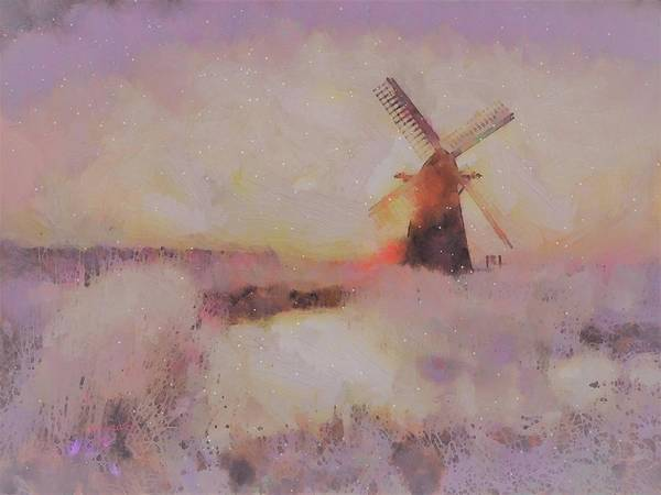 Painting - Frosty Windmill   by Valerie Anne Kelly