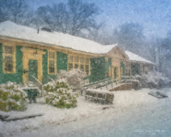 Painting - Frothingham Hall On Snow Day by Bill McEntee