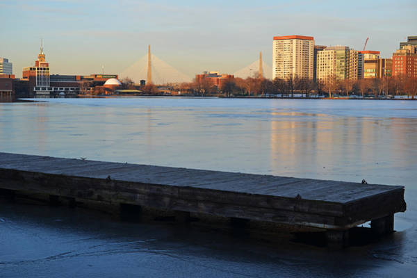 Photograph - Frozen Dock On The Charles River by Toby McGuire