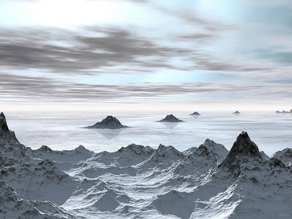 Frozen Tundra Digital Art - Frozen Arctic Sea by Phil Perkins