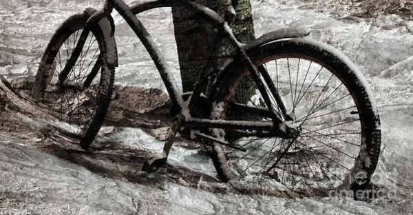 Wall Art - Photograph - Frozen Bicycle by John Stephens