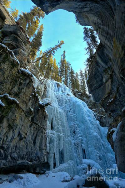 Photograph - Frozen Canyon Falls by Adam Jewell