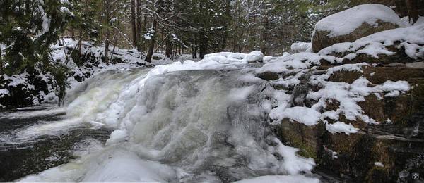Photograph - Frozen Cascade by John Meader