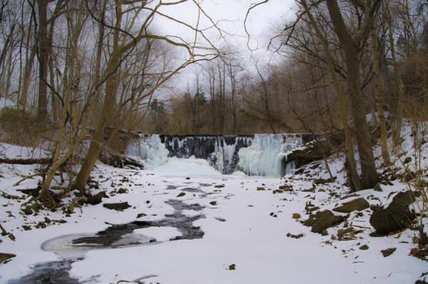 Wall Art - Photograph - Frozen Dove Lake Waterfall - Gladwyne Pa by Bill Cannon