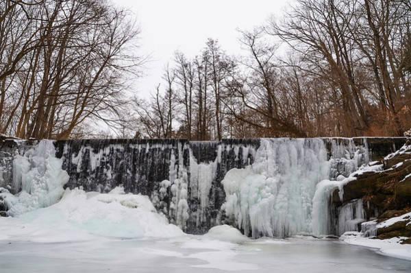 Wall Art - Photograph - Frozen Dove Lake Waterfall  In Gladwyne Pa by Bill Cannon